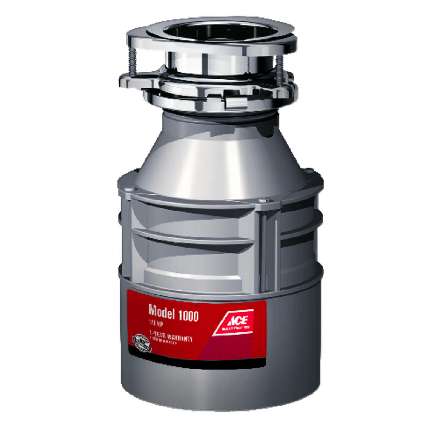 Ace  Garbage Disposal  1/3 hp Gray