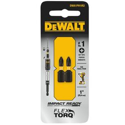 DeWalt Impact Ready Phillips #1 x 1 in. L Screwdriver Bit Black Oxide 2 pc.