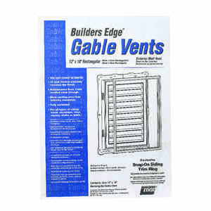 Builders Edge  12 in. W x 18 in. L White  Plastic  Gable Vent