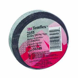 3M  Temflex  3/4 in. W x 22 ft. L Black  Rubber  Splicing Tape