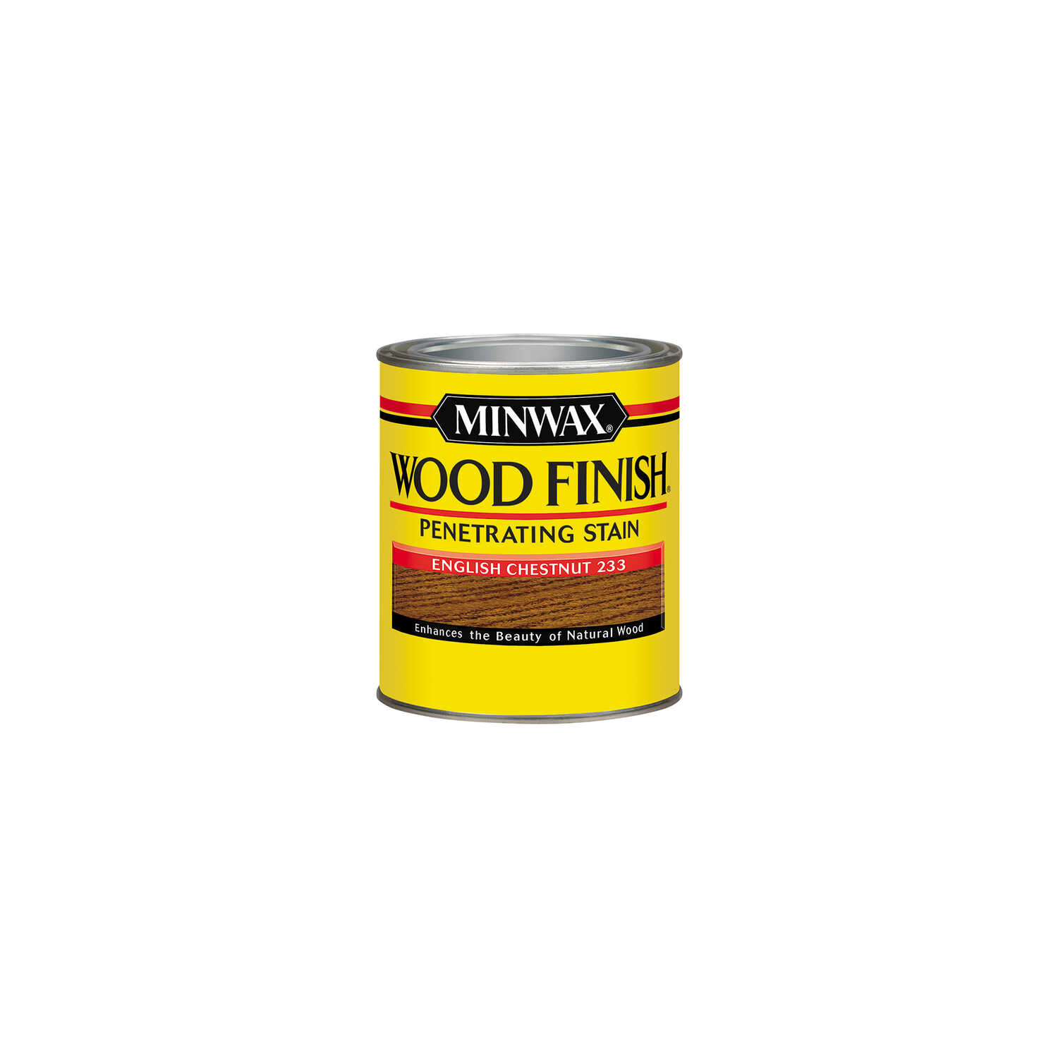Minwax  Wood Finish  Semi-Transparent  English Chestnut  Oil-Based  Oil  Wood Stain  0.5 pt.