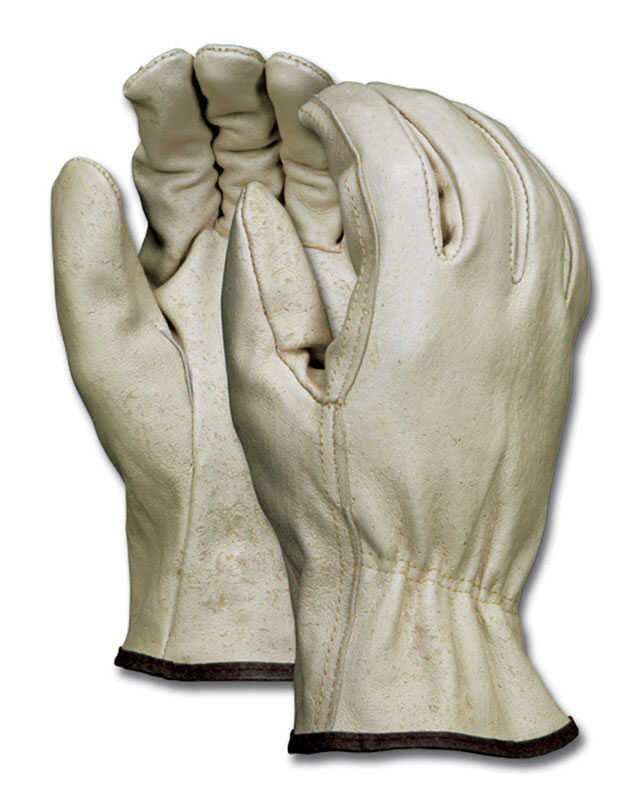 MCR Safety  XL  Pigskin  Driver  Beige  Gloves