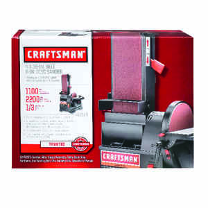Craftsman  36 in. L x 6 in. W Corded  6 in. Bench Top Belt and Disc Sander  Corded  18 fps 120 volts