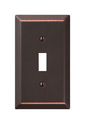 Amerelle  Century  Aged Bronze  Bronze  1 gang Stamped Steel  Toggle  Wall Plate  1 pk