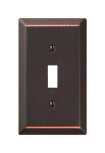 Amerelle  Bronze  1 gang Stamped Steel  Wall Plate  1 pk Toggle