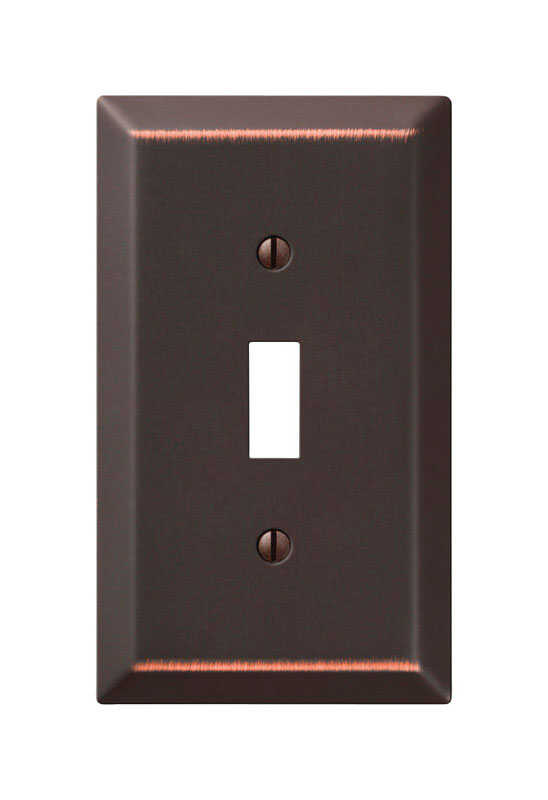 Amerelle  Bronze  1 gang Stamped Steel  Toggle  Wall Plate  1 pk