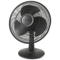 Lasko 16.5 in. H x 12 in. Dia. 3 speed Oscillating Table Fan