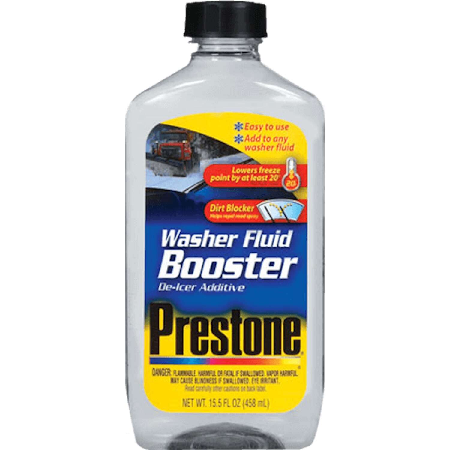 Prestone  Washer Fluid Booster  Liquid  15.5 oz.