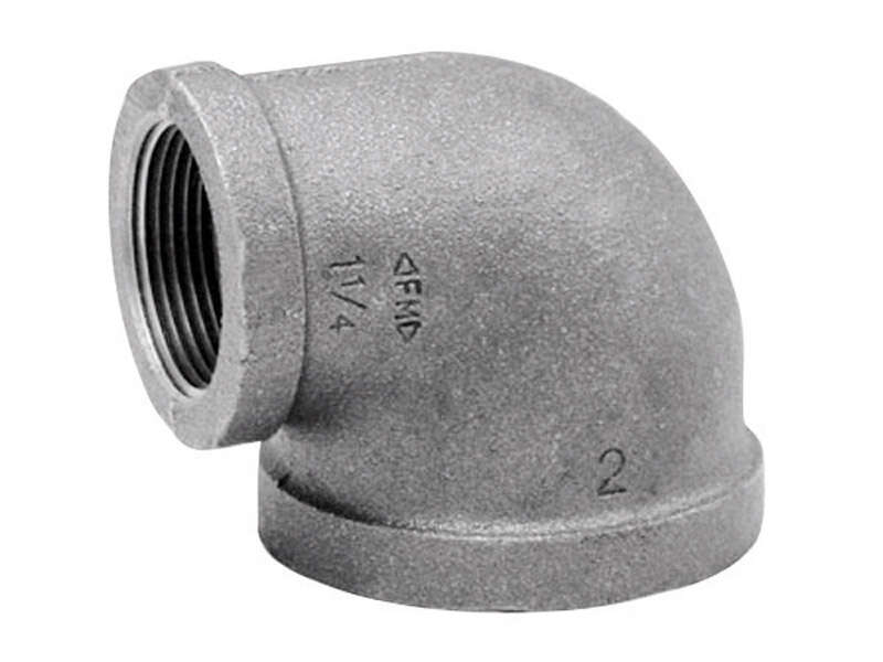 Anvil  3/8 in. FPT   x 1/4 in. Dia. FPT  Galvanized  Malleable Iron  Elbow