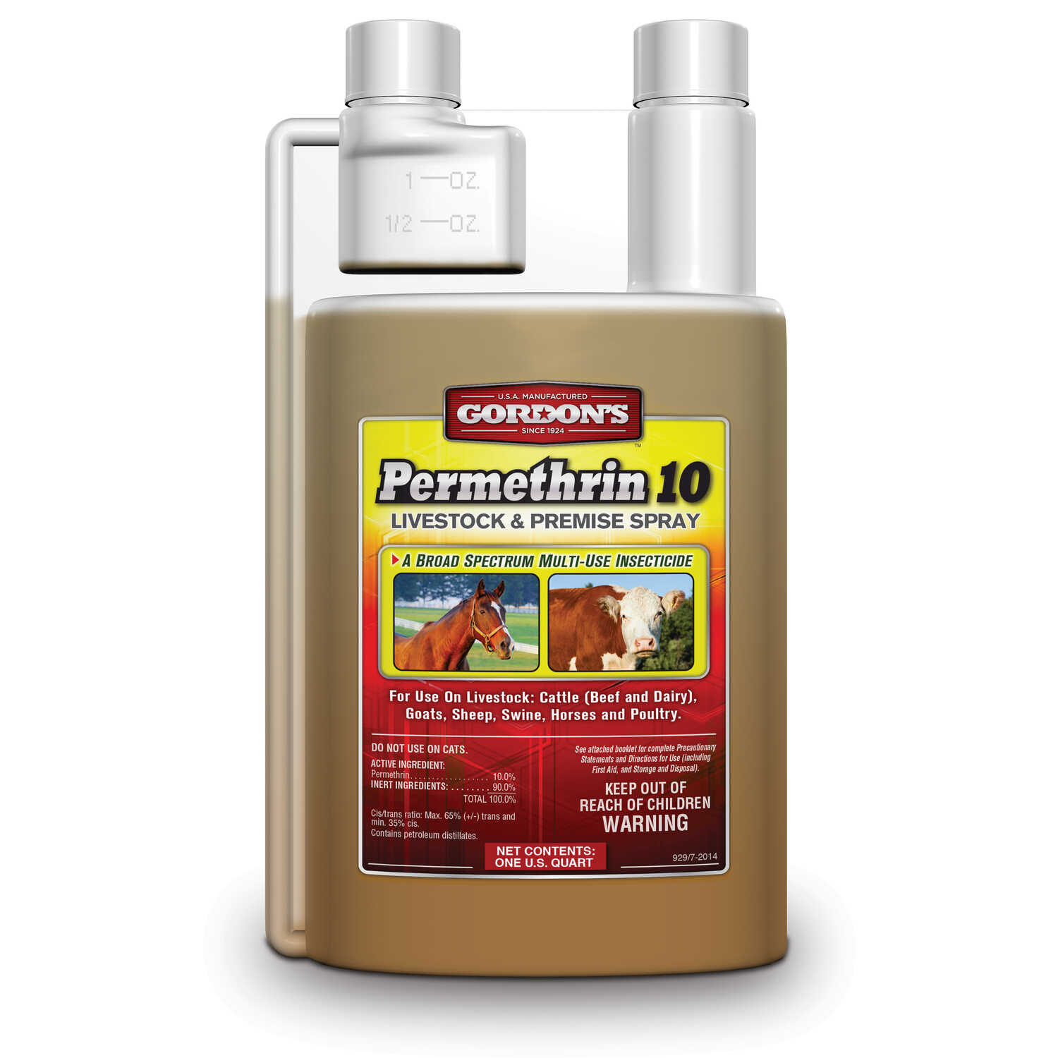 Gordons  Permethrin 10 Livestock & Premise Spray  Insect Killer Concentrate  32 oz.