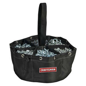 Craftsman  11 in. W x 5 in. H Ballistic Nylon  Tote Bag  6 pocket Black  1 pc.