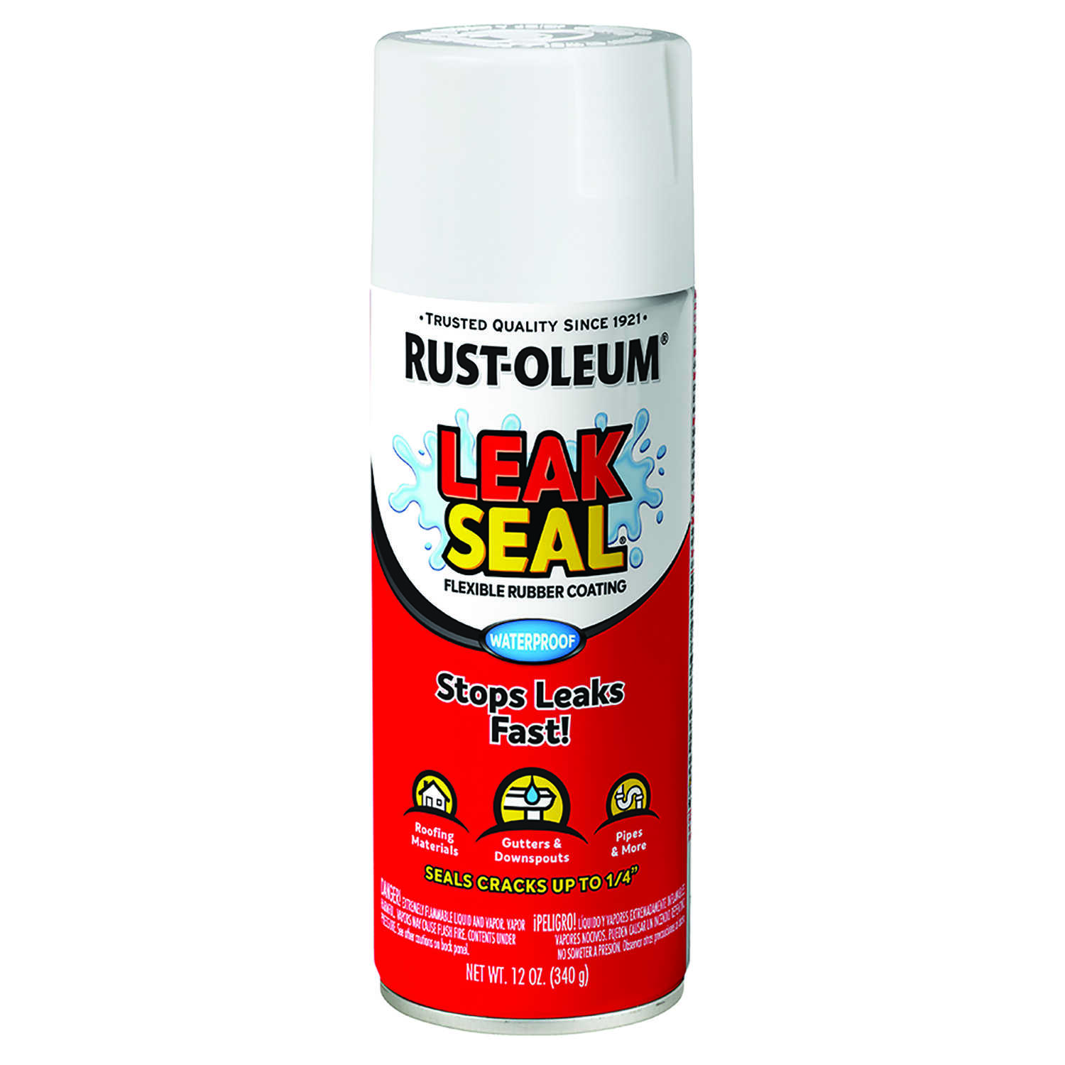 Rust-Oleum  White  Leakseal Flexible Rubber Sealant  12 oz.