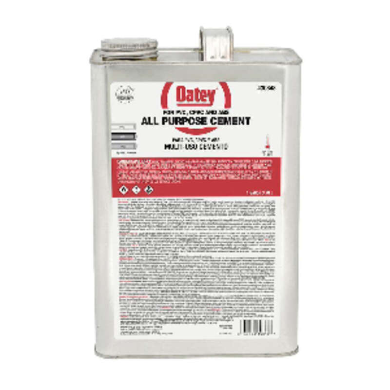 Oatey  Clear  All-Purpose Cement  For CPVC/PVC 1 gal.