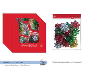 Paper Images  Assorted  Traditional Holiday  Bows