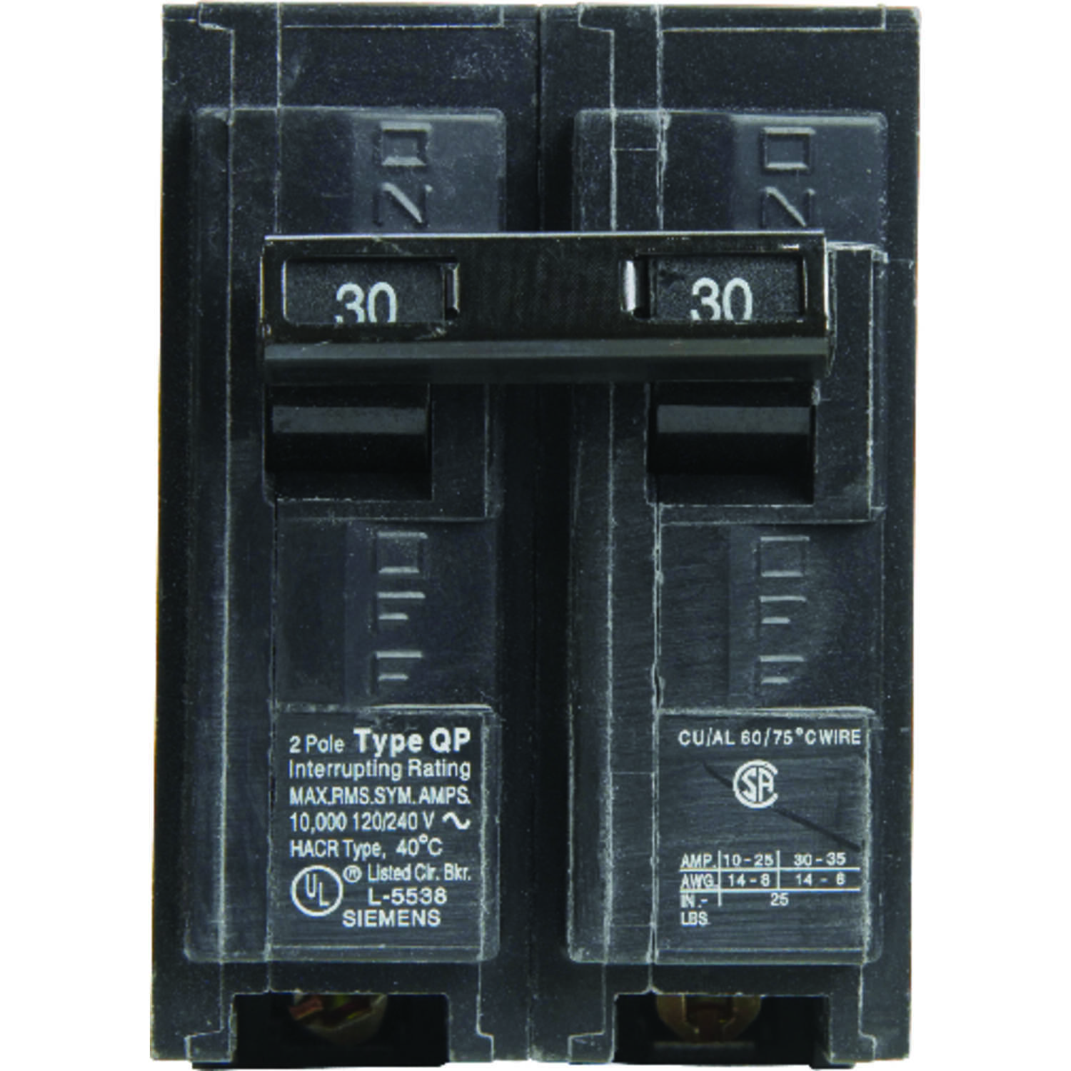 Siemens HomeLine 30 amps Double Pole 2 Circuit Breaker - Ace