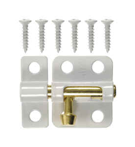 Ace Barrel Bolt  2 in.  White  Trap Blister