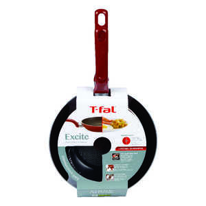 T-Fal  Excite  Aluminum  Fry Pan Set  Red