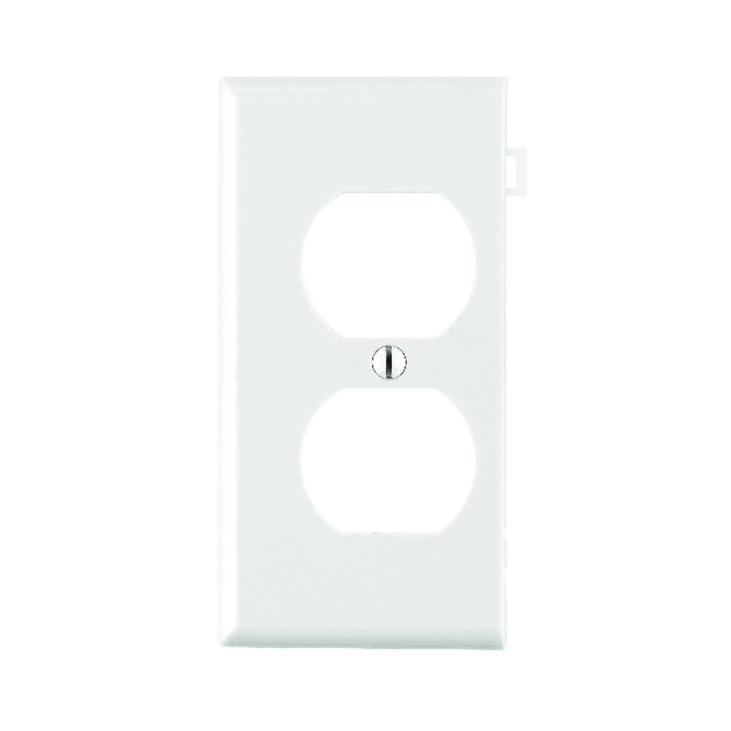 Leviton  End Section  White  1 gang Nylon  Wall Plate  1 pk Duplex Outlet