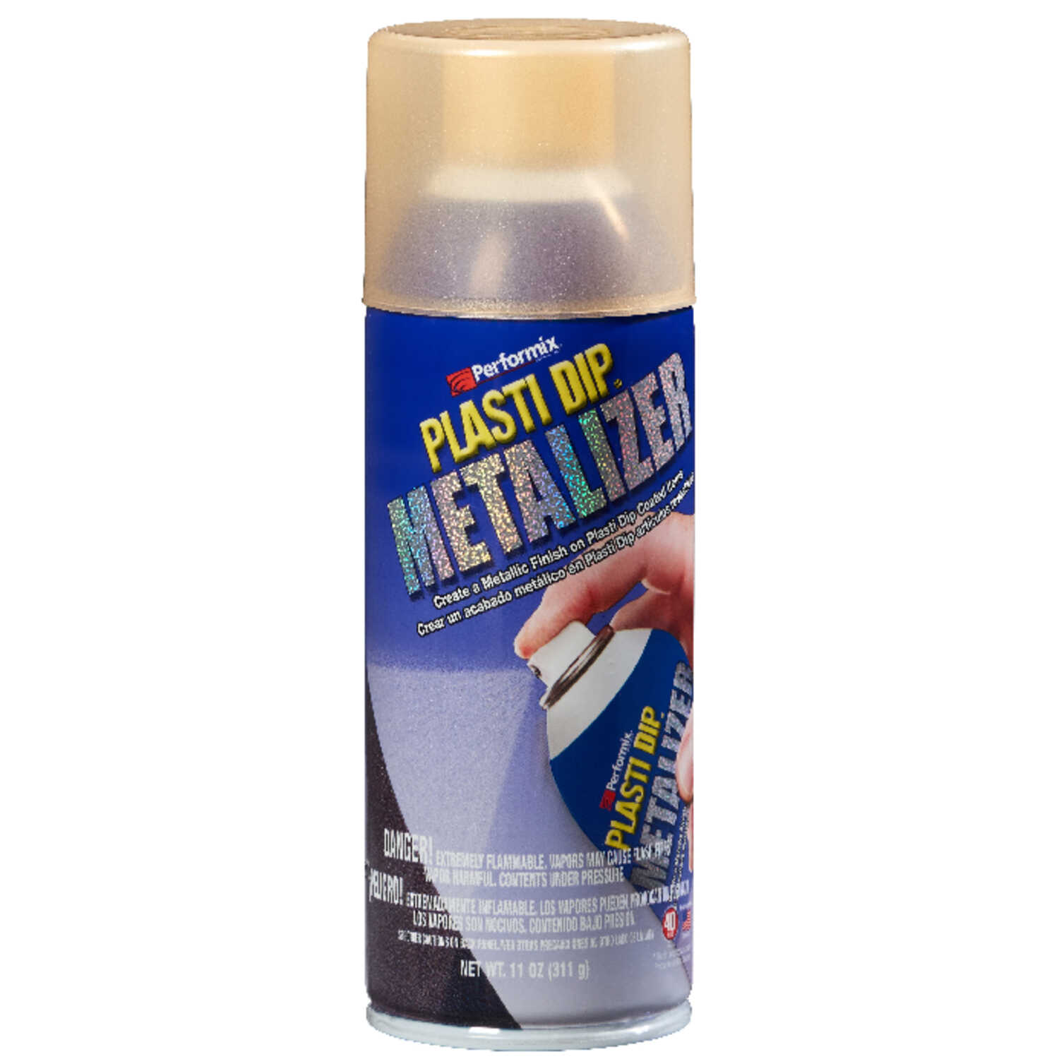 Plasti Dip  Metalizer  Flat/Matte  Gold  11 oz  Multi-Purpose Rubber Coating