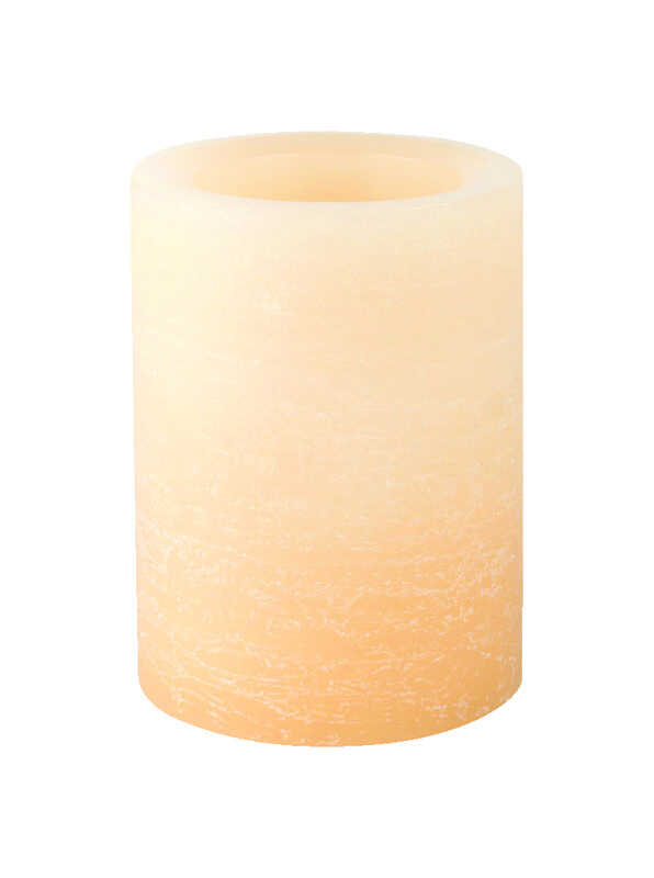 Inglow  Butter Cream  Ombre Rustic  Candle  4 in. H x 3 in. Dia.