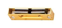 Ives  0.6 in. H x 3.1 in. W x 1 in. D Polished Brass  Aluminum  Magnetic Catch