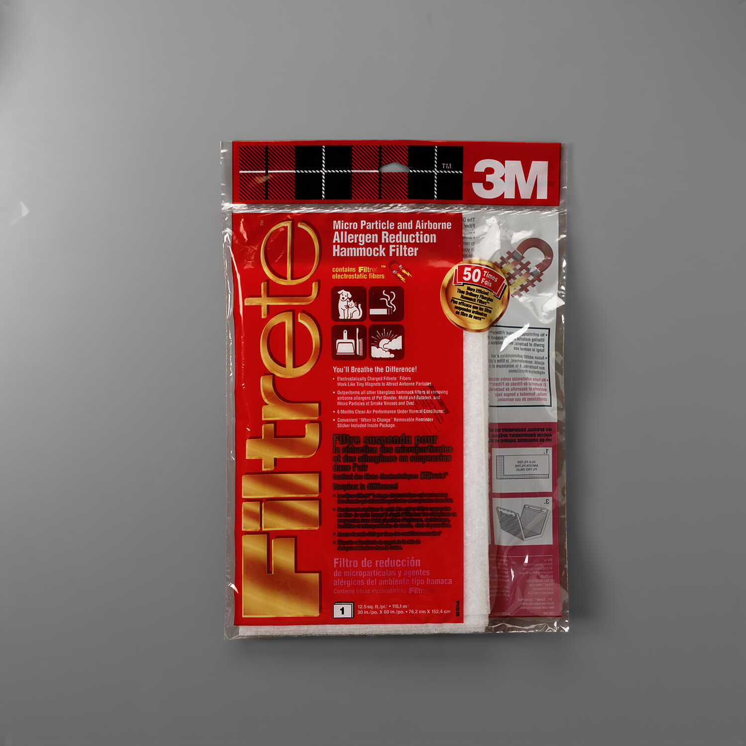 3M  Filtrete  30 in. H x 60 in. W x 1 in. D 11 MERV Air Filter