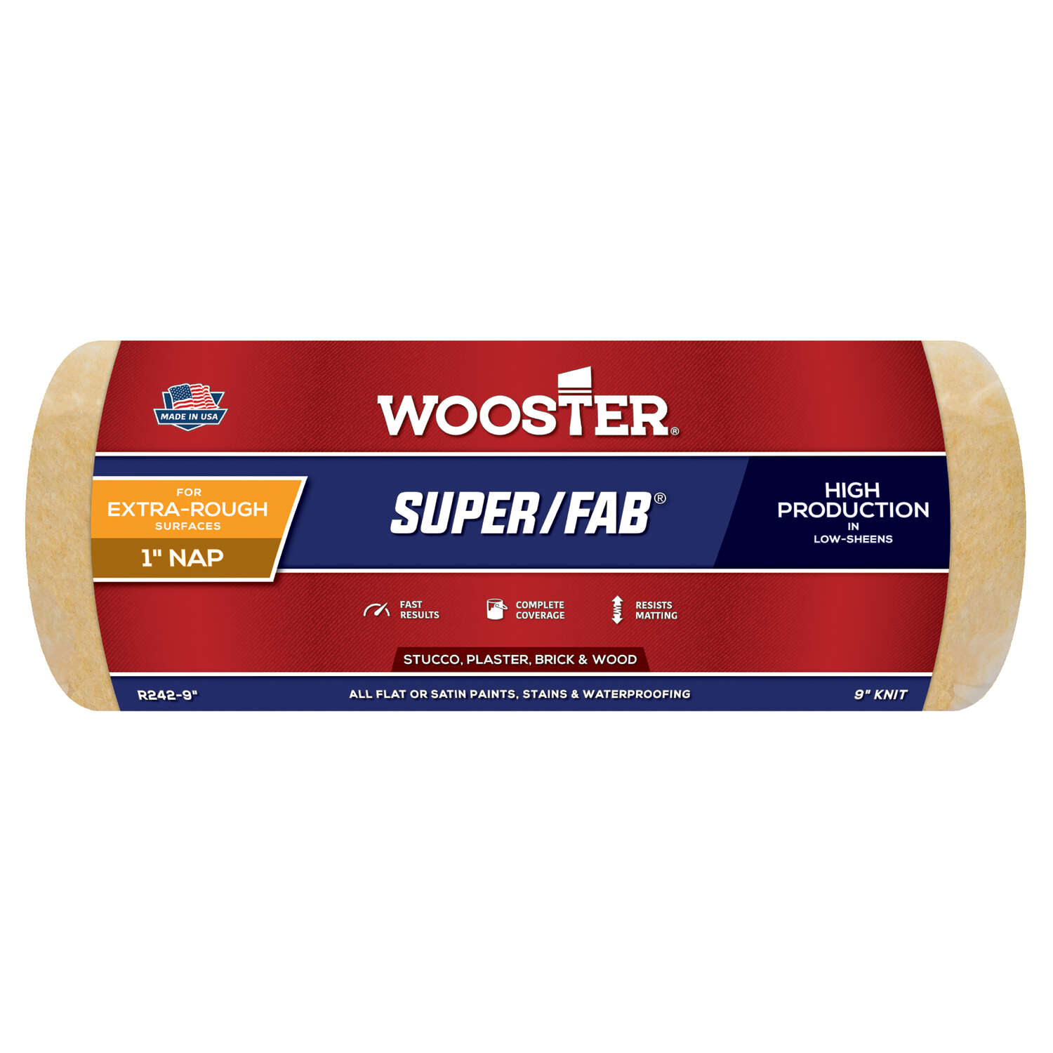 Wooster  Super/Fab  Knit  9 in. W x 1 in.  Regular  Paint Roller Cover  1 pk