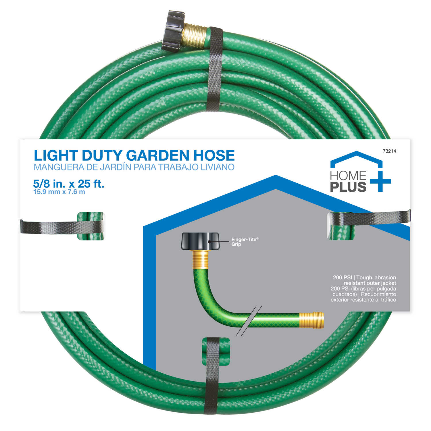 Home Plus  5/8 in. Dia. Medium-Duty  Green  Hose