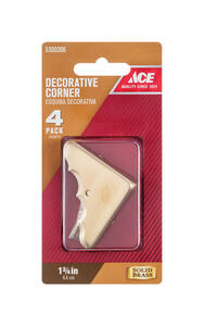 Ace  Polished  Brass  Decorative Corner  1.8 in. 4 pk