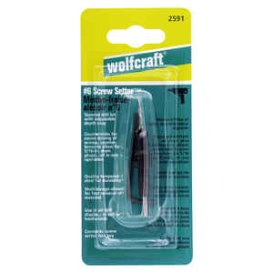 Wolfcraft  3 M Dia. Steel  Tapered  Screw Setter  1 pc.