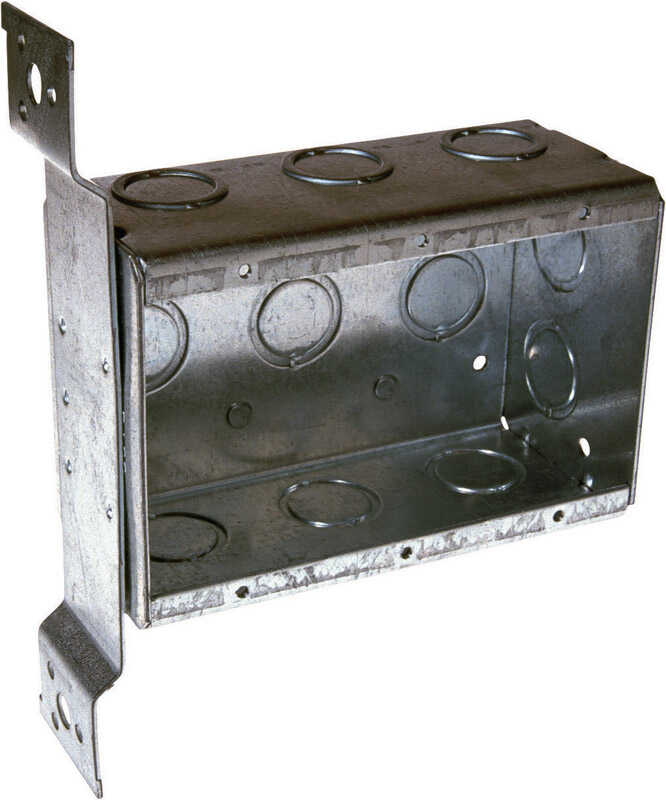 Raco  Square  3 Gang  Steel  7-5/8 in. Gray  3 gang Outlet Box