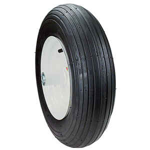 MaxPower  8 in. Dia. Centered  Wheelbarrow Wheel  Rubber  1 pk
