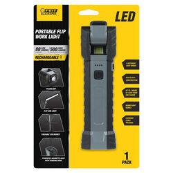 Feit Electric  80/500 lumens LED  Rechargeable  Handheld  Work Light w/Magnet