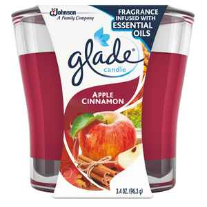 Glade  Red  Apple Cinnamon Scent Jar  Air Freshener Candle  3-1/16 in. H x 3-1/4 in. Dia. 3.4 oz.