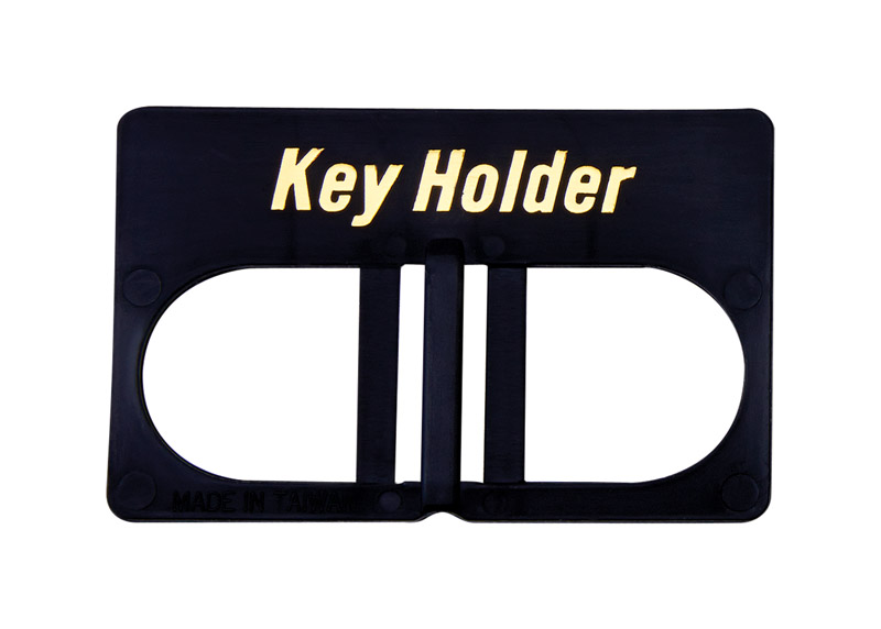 Hy-Ko  Plastic  Black  Wallet  Key Holder