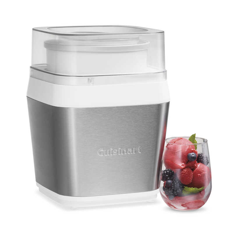 Cuisinart  Fruit Scoop  Gray  1-1/2 qt. Frozen Dessert Maker  16.14 in. H x 10.63 in. W x 10.63 in.