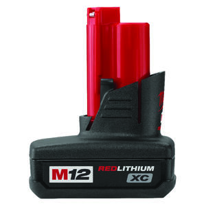 Milwaukee  M12 REDLITHIUM  XC  12 volt 3 Ah Lithium-Ion  High Capacity Battery Pack  1 pc.
