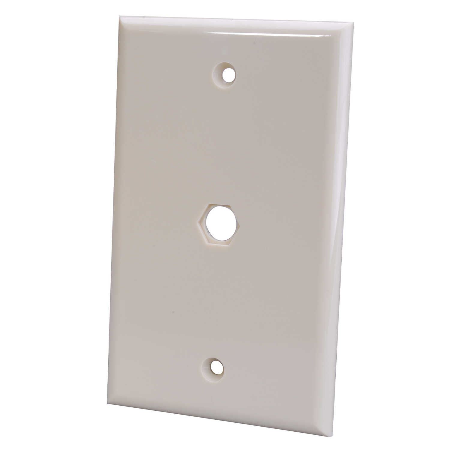 Ace  Ivory  1 gang Plastic  Coaxial  Wall Plate  1 pk