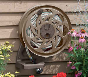 Suncast  Slide Trak Hose Hideaway  125 ft. Wall Mount  Hideaway  Brown  Hose Reel