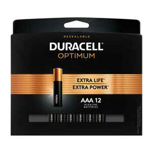 Duracell  Optimum  AAA  Alkaline  Batteries  12 pk Carded