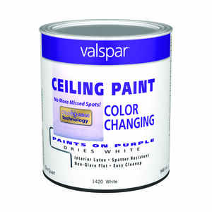 Valspar  Flat  Purple to White  White Base  Latex  Color Changing Ceiling Paint  Indoor  1 qt.
