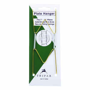 Tripar  7 in. to 10 in.  Brass  Bent Curves  Plate Hanger  1 pk