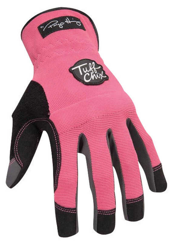 Ironclad  Women's  Synthetic Leather  Work  Gloves  Pink  Medium  1 pair