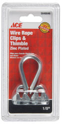 Ace  Galvanized  Steel  Wire Rope Clips and Thimble  1/8 in. L