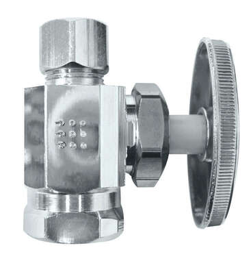 Ace  3/8 in. FPT   x 3/8 in.  Brass  Shut-Off Valve