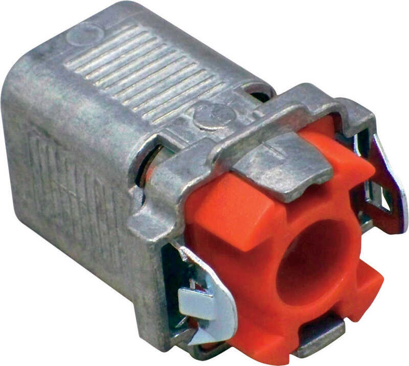 Sigma Electric ProConnex  Double Snap Lock  3/8 in. Dia. Die-Cast Zinc  Flex Connector  For AC, MC a