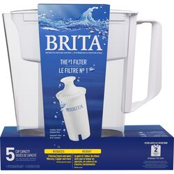 Brita  Soho  5  White  Pitcher