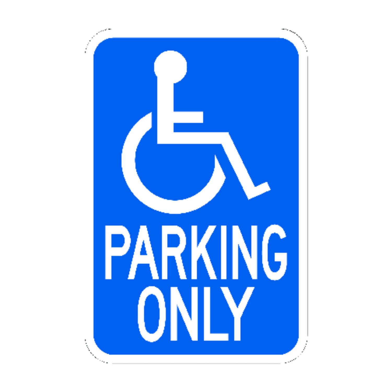 Hy-Ko  English  Handicapped Parking  18 in. H x 12 in. W Sign  Aluminum