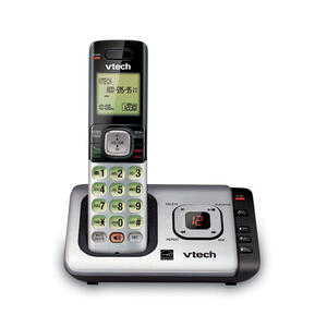 Vtech  Digital  Cordless Gray  Telephone  Built In Answering Machine 1 Number of Handsets
