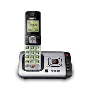Vtech  Digital  Cordless Gray  Telephone  1  Built In Answering Machine